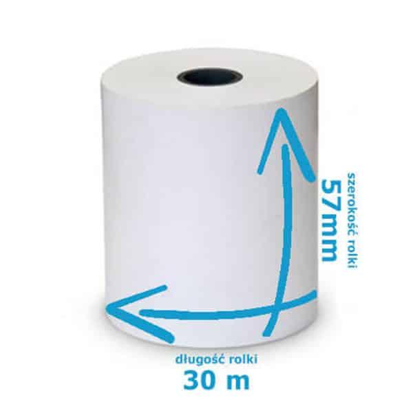 Rolka termiczna do kas i drukarek 57mmx 30m