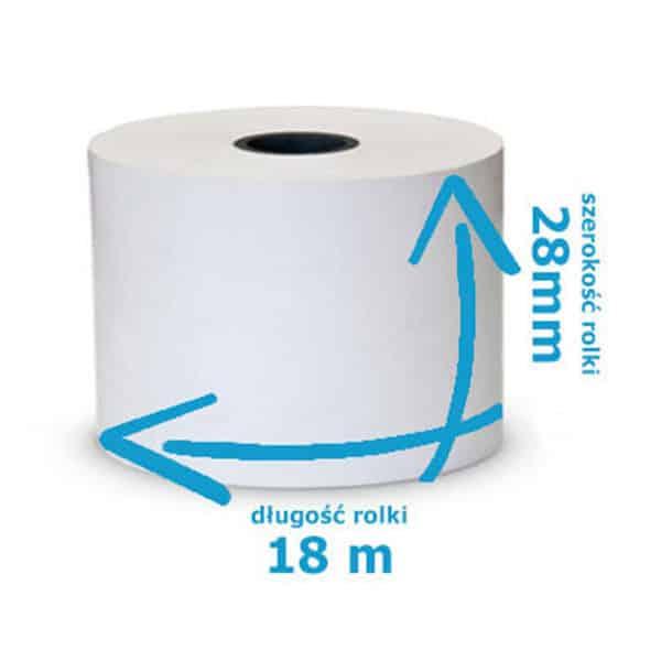 Rolka termiczna do kas 28mmx18m